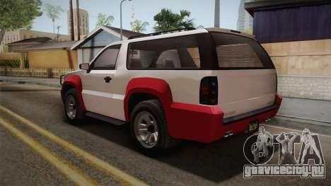 GTA 5 Declasse Granger 2-doors IVF для GTA San Andreas вид сзади слева