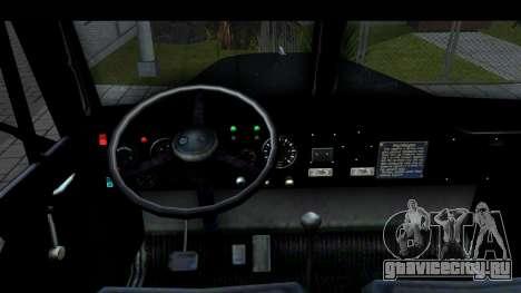 КрАЗ-257 Автокран для GTA San Andreas вид изнутри