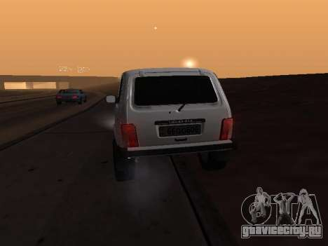 Vaz 2121 Niva Armenian для GTA San Andreas вид изнутри
