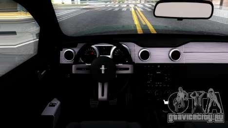 Ford Mustang GT 2009 для GTA San Andreas вид изнутри