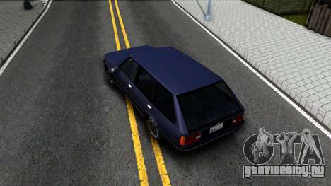 BMW 3-er E30 Touring SA Style для GTA San Andreas вид сзади