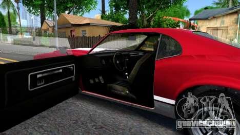 Sabre Turbo GTA 5 для GTA San Andreas вид изнутри