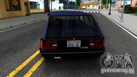 BMW 3-er E30 Touring SA Style для GTA San Andreas вид сзади слева
