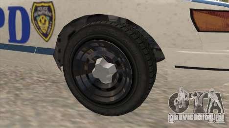 GTA 4 Police Stanier для GTA San Andreas вид сзади