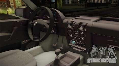 Chevrolet Corsa 1.4 для GTA San Andreas вид изнутри