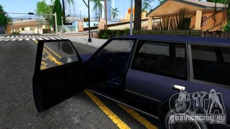BMW 3-er E30 Touring SA Style для GTA San Andreas вид изнутри