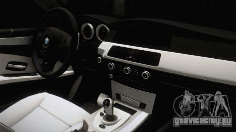 BMW M5 E60 Полиција для GTA San Andreas вид изнутри