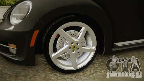 Volkswagen Beetle 2013 Daily Car для GTA San Andreas вид сзади