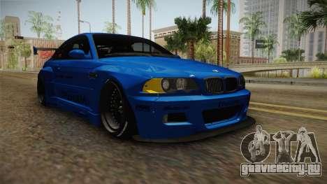 BMW M3 E46 Liberty Walk Pandem Livery для GTA San Andreas