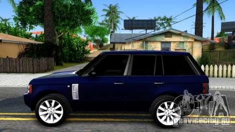 Land Rover Range Rover Supercharged для GTA San Andreas вид слева