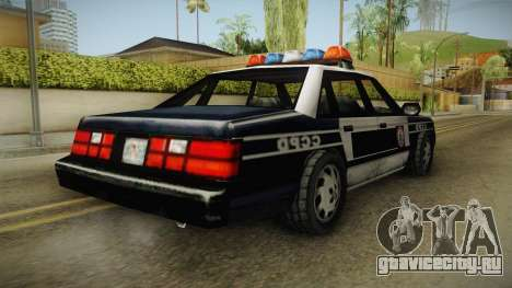 Manhunt (GTA VC) Police CCPD для GTA San Andreas вид справа