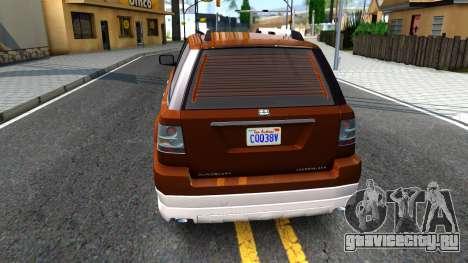 Dundreary Landstal GTA IV для GTA San Andreas вид сзади слева