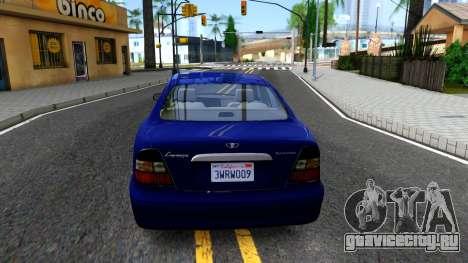 Daewoo Leganza CDX US 2001 для GTA San Andreas вид сзади слева