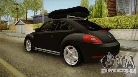 Volkswagen Beetle 2013 Daily Car для GTA San Andreas вид сзади слева