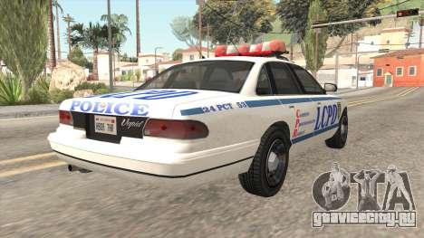 GTA 4 Police Stanier для GTA San Andreas вид справа