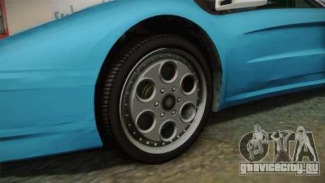 GTA 5 Infernus Classic для GTA San Andreas вид сзади