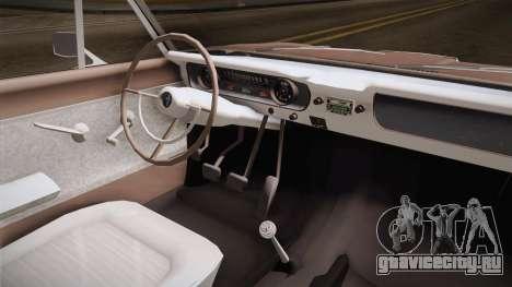 Ford Falcon 1963 для GTA San Andreas вид изнутри