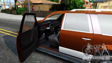 Dundreary Landstal GTA IV для GTA San Andreas вид изнутри