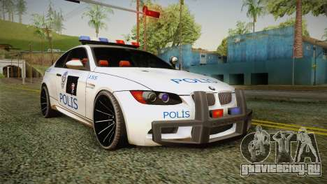 BMW M3 Turkish Police для GTA San Andreas