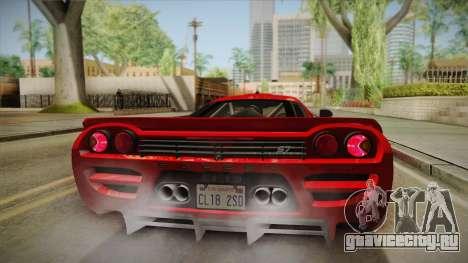 Saleen S7 для GTA San Andreas вид изнутри