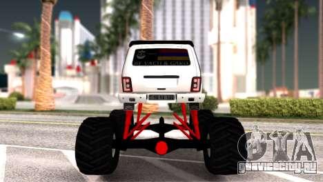 Vaz 2121 Monster Armenian для GTA San Andreas вид справа