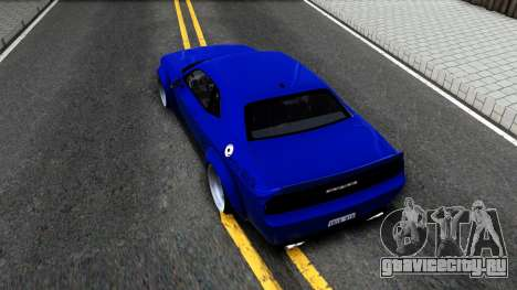 Dodge Challenger SRT8 Liberty Walk для GTA San Andreas вид сзади