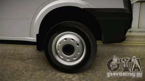 Ford Transit Forenzika для GTA San Andreas вид сзади