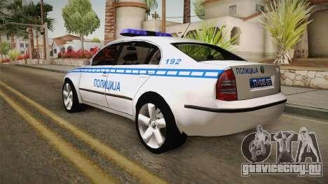 Skoda Superb Serbian Police v2 для GTA San Andreas