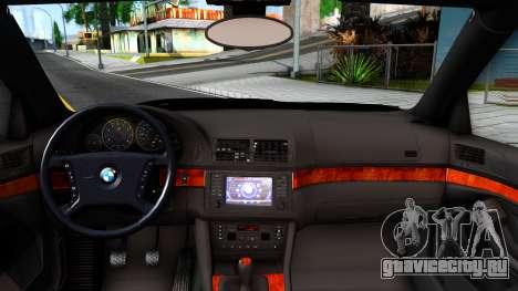 BMW 540i E39 для GTA San Andreas вид изнутри