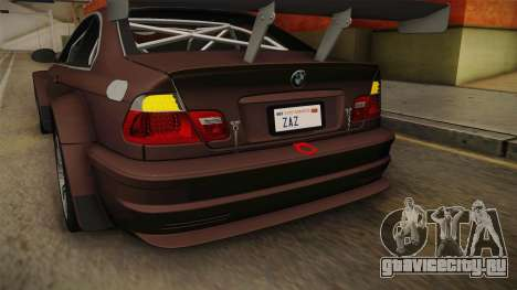 BMW M3 E46 2005 NFS: MW Livery для GTA San Andreas вид снизу