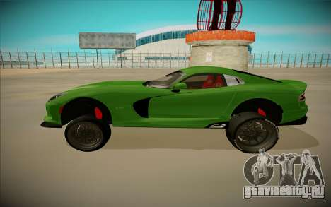 Dodge Viper GTS Off Road для GTA San Andreas вид сзади слева