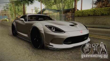 Dodge Viper SRT Tuned для GTA San Andreas вид справа