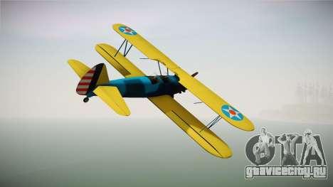 PT-17 Stearman Biplane для GTA San Andreas вид справа