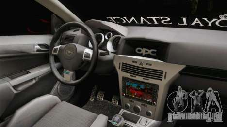 Opel Astra H OPC для GTA San Andreas вид изнутри