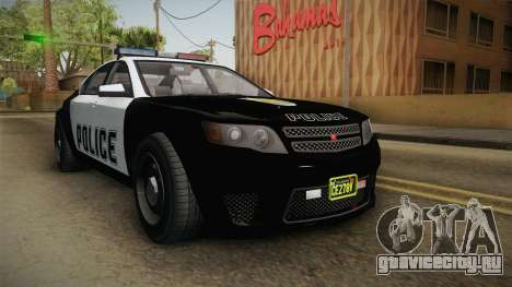GTA 5 Cheval Fugitive Police IVF для GTA San Andreas