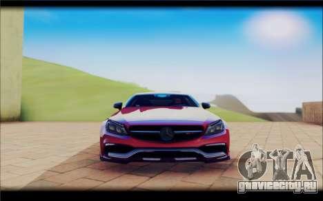 Mersedes-Benz C63 Coupe Tuning для GTA San Andreas вид сзади