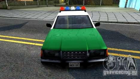 LSPD Police Car для GTA San Andreas вид изнутри