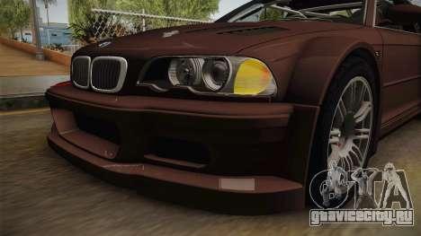 BMW M3 E46 2005 NFS: MW Livery для GTA San Andreas вид сбоку