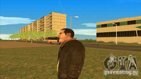Чисто выбритый Нико для GTA San Andreas четвёртый скриншот