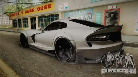 Dodge Viper SRT Tuned для GTA San Andreas вид слева