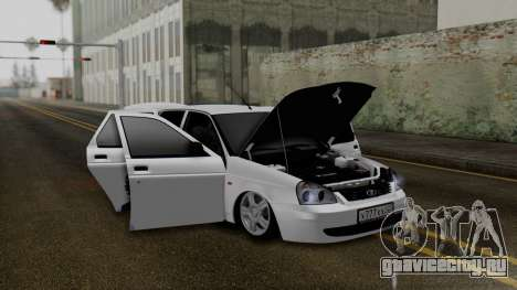 Lada Priora На Донышке для GTA San Andreas вид изнутри