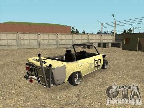 ВАЗ 2106 Кабриолет для GTA San Andreas вид сзади слева