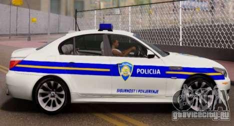 BMW M5 Croatian Police Car для GTA San Andreas