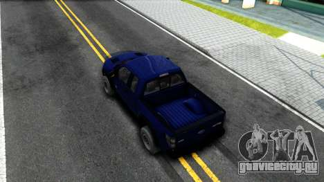 Ford F-150 SVT Raptor Elite 2014 для GTA San Andreas вид сзади
