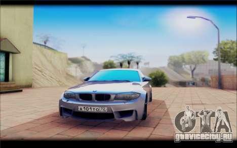 BMW M1 Coupe для GTA San Andreas вид сзади