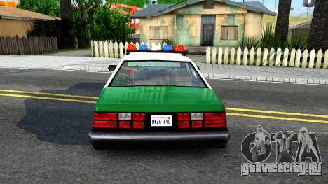 LSPD Police Car для GTA San Andreas вид сзади слева