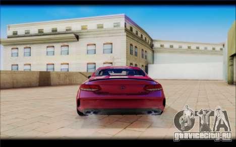Mersedes-Benz C63 Coupe Tuning для GTA San Andreas вид справа