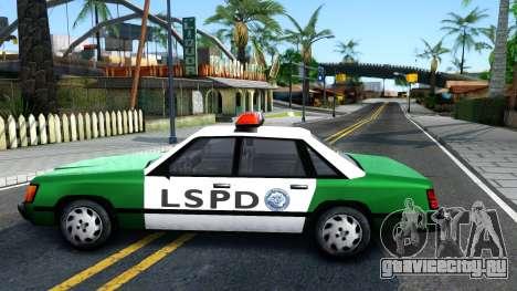 LSPD Police Car для GTA San Andreas вид слева