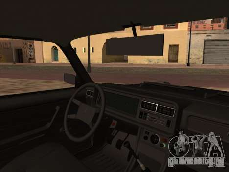 ВАЗ 2107 Шериф для GTA San Andreas вид сзади слева