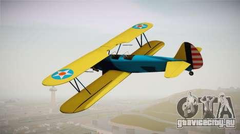 PT-17 Stearman Biplane для GTA San Andreas вид слева